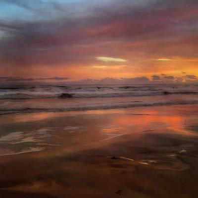 Beach Photograph - Golden Sunrise - New Smyrna Beach Florida by Joann Vitali