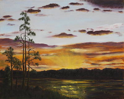 Painting - Golden Sunrise by Alan Mager