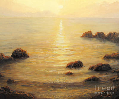 Golden Sunlight Painting - Golden Sunrise by Kiril Stanchev
