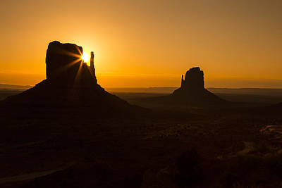 Photograph - Golden Sunrise Monument Valley by Garry Gay