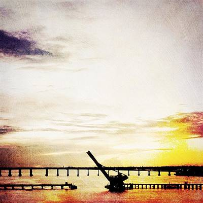 Golden Sunrise On The River Art Print by Beth Williams