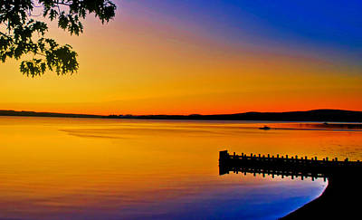 Photograph - Golden Sunrise Over Penobscot Bay In Maine by Ginger Wakem