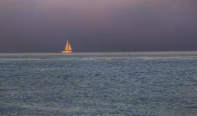 Golden Sunrise Sails By Denise Dube Art Print
