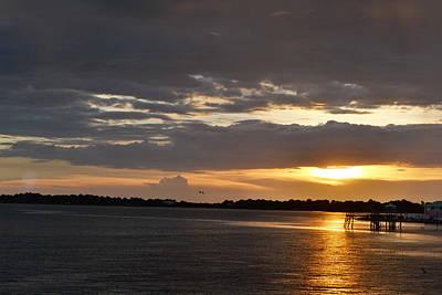Photograph - Golden Sunset At Cedar Key by rd Erickson