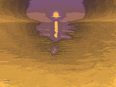 Digital Art - Golden Sunset by Augusta Stylianou