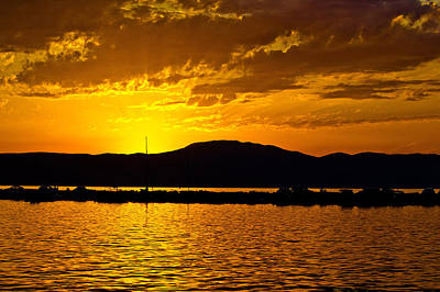 Photograph - Golden Sunset by Brch Photography