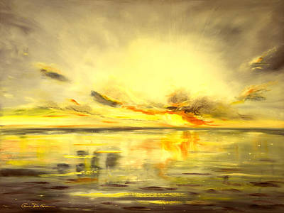 Painting - Golden Sunset by Gina De Gorna