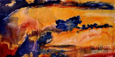Painting - Golden Sunset by Julia  Walsh
