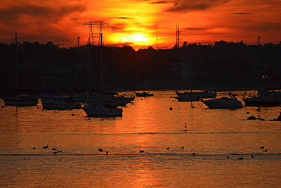 Photograph - Golden Sunset Over Salem Harbor by Toby McGuire