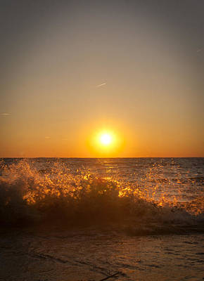 Photograph - Golden Surf by Cindy Haggerty