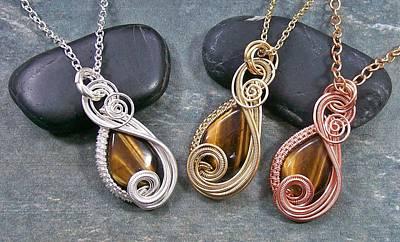 Heather Jordan Jewelry - Golden Tiger Eye Mini Swish Pendant by Heather Jordan