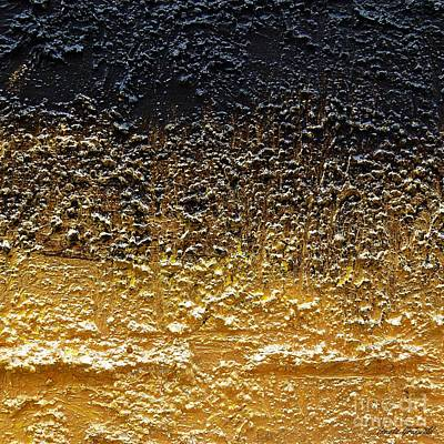 Isi Painting - Golden Time - Abstract by Ismeta Gruenwald