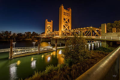 Old Sacramento Photograph - Golden Towers by Everet Regal