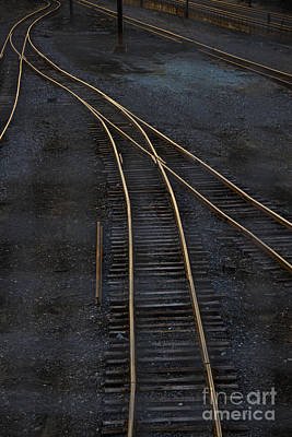 Train Photograph - Golden Tracks by Margie Hurwich