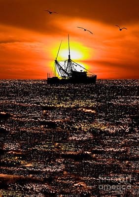 Photograph - Golden Trawler - Outer Banks by Dan Carmichael
