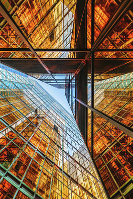 Perspective Photograph - Golden Triangle by Kevin Jiang