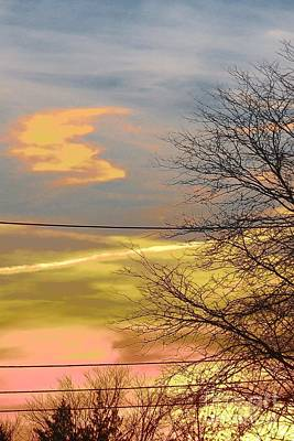 Photograph - Golden Twilight Abstract by Tara  Shalton