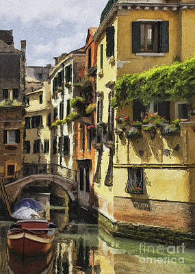 Photograph - Golden Venetian Apartments Impasto by Sharon Foster