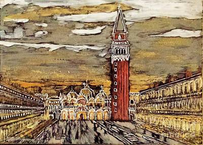 Painting - Golden Venice by Jasna Gopic