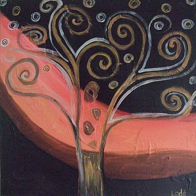 Golden Vines Painting - Golden Vine by Freda Lade-Ajumobi