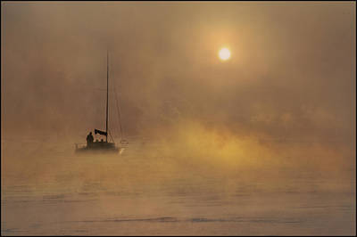 Silver Turquoise Photograph - Golden Voyage by Adrian Campfield