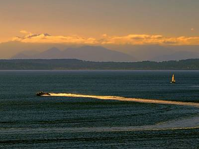 Photograph - Golden Wake by Jennifer Wheatley Wolf