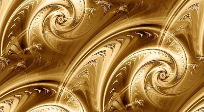 Golden Waves Art Print by Anastasiya Malakhova