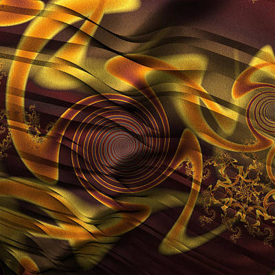 Digital Art - Golden Whirligigs by Kiki Art