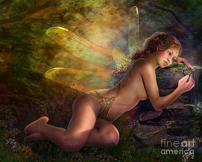 Figurative Photograph - Golden Wings by MGL Meiklejohn Graphics Licensing