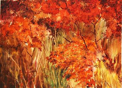 Painting - Golden Wood by Marilyn McMeen Brown