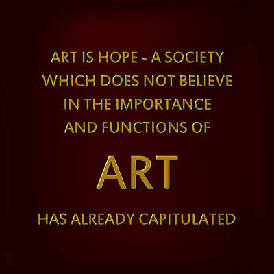 Golden Words 01 - Art Is Hope Original