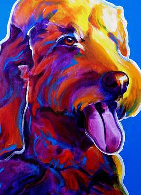 Dawgart Painting - Goldendoodle - Dawny by Alicia VanNoy Call