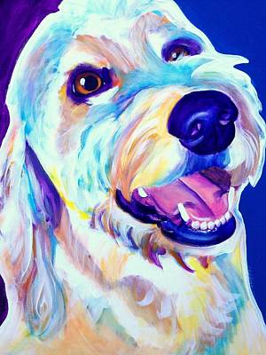 Golden Doodle Painting - Goldendoodle - Penny by Alicia VanNoy Call