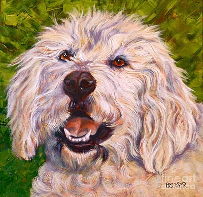 Painting - Goldendoodle by Susan A Becker