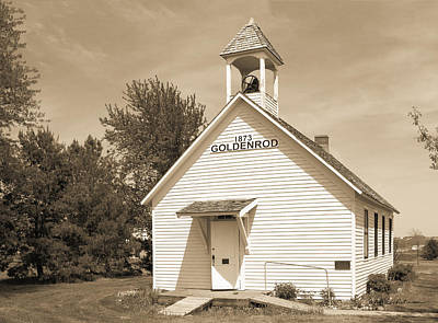Photograph - Goldenrod School by Edward Peterson