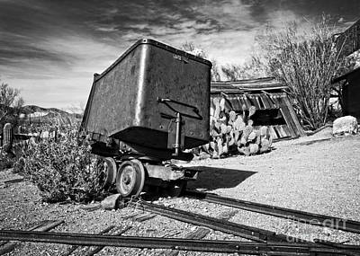 Photograph - Mining Car Black And White by Lee Craig