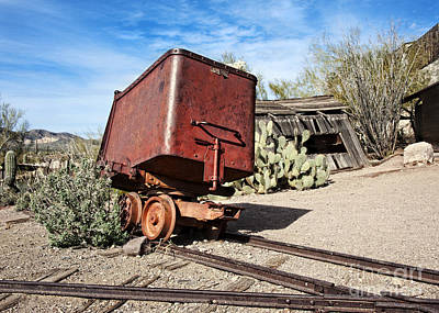 Photograph - Goldfield Mining Car by Lee Craig