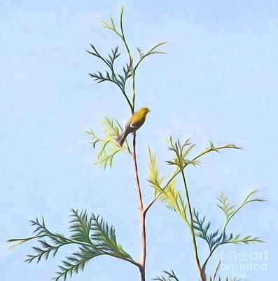 Goldfinch Minimalism Art Print by Kerri Farley
