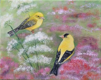 Goldfinches Art Print