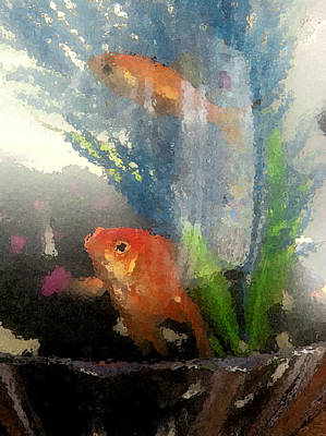 Photograph - Goldfish Art   Ll by Margie Avellino