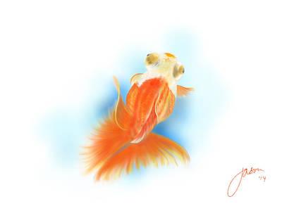 Goldfish Digital Art - Goldfish  by Jason Leong