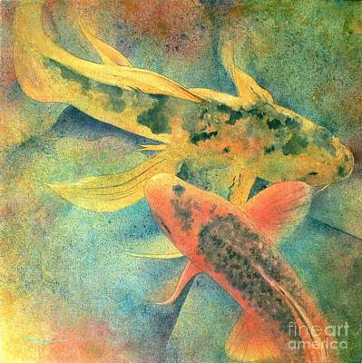 Asian Painting - Goldfish by Robert Hooper