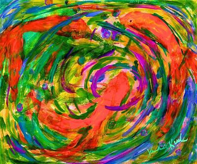 Painting - Goldfish Swirl by Kendall Kessler