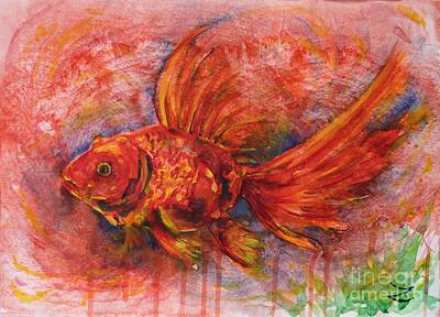 Painting - Goldfish by Zaira Dzhaubaeva