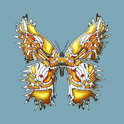 Graduation Sayings - Goldfly Butterfly by Deborah Runham