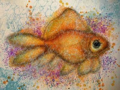 Goldfish Digital Art - Goldie Bug by Lisa Schwaberow