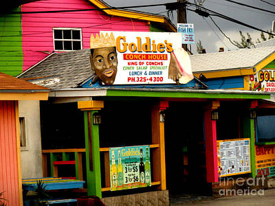 Goldie's Conch House Art Print