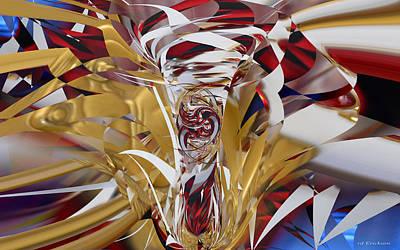 Digital Art - Goldigger by rd Erickson