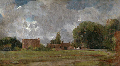 Dedham Painting - Golding Constables House, East Bergholt The Artists by Litz Collection
