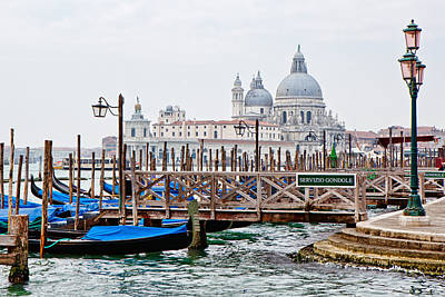 Watercraft Photograph - Gondola Station In Venice by Susan Schmitz